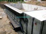 Talajvíz káros hatása miatt vízzáró vasbeton medenceszerkezet külső oldali bitumenes vízszigetelése