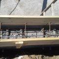 Medence betonkoszorú vasalása